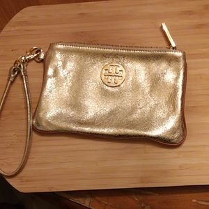 Tory Burch Gold wristlet
